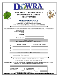 2018 Golf Registration